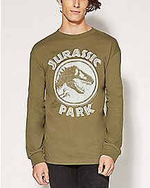 Long Sleeve Jurassic Park Stamp T shirt