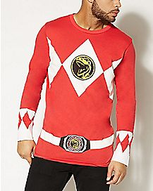 Red Power Ranger Power Ranger Long Sleeve T shirt