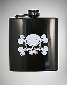 Skull and Bones Flask 6 oz