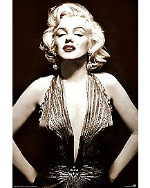 Black White Marilyn Monroe Poster