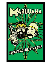 Cheech & Chong Blacklight Poster