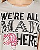 We're All Mad Here Alice In Wonderland T shirt