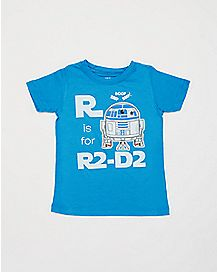 R is for R2D2 Star Wars Toddler T shirt