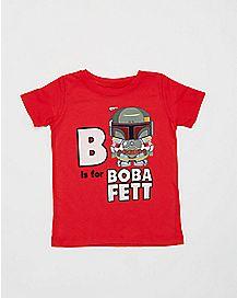 B is For Boba Fett Star Wars Toddler T shirt