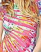 Rainbow Nebula Tie Dye T shirt