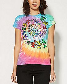Spiral Bears Grateful Dead T shirt