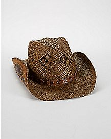 Brown Straw Jarales Cowboy Hat