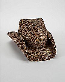 Leopard Print Rowdy Drifter Cowboy Hat