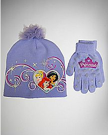 Disney Princess Toddler/Baby Beanie Hat Glove Set