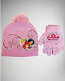 Disney Princess Baby/Toddler Hat Glove Set