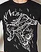 White Line Goku Dragon Ball Z  T Shirt