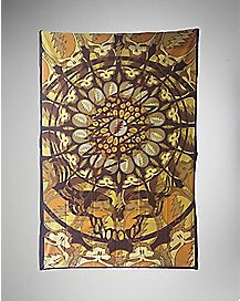 Gold Skull Grateful Dead Tapestry Wall Art 45 x 60