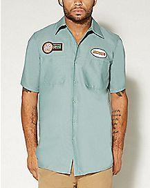 TMNT Michaelangelo Work Shirt T Shirt