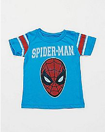 Blue Spider-Man Baby/Toddler T Shirt - Marvel Comics