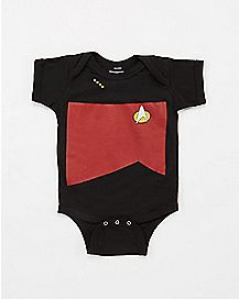 Star Trek Black and Red Baby Bodysuit