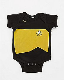Star Trek Black and Gold Baby Bodysuit