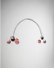 Colored Cz Pregnancy Belly Ring - 14 Gauge
