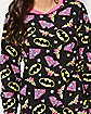 Adult Allover Logo DC Comics Footie Pajamas