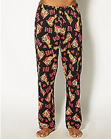 Adult Heart Print Scooby Doo Lounge Pants