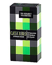 Sir Richards Classic Ribbed Condoms 12 Pack