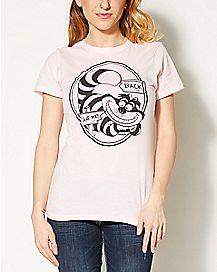 Cheshire Cat That Way Alice in Wonderland T shirt