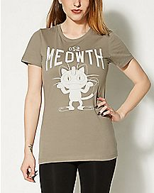 052 Meowth Pokemon T Shirt