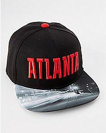 Skyline Brim Atlanta Snapback Hat