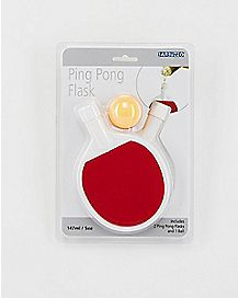 Red and White Ping Pong Flask Set 5 oz