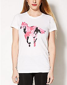 Pink Camouflage Pony Deftones T shirt