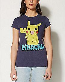 Wave Pikachu Pokemon Tee