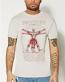 Vitruvian Spider-Man T Shirt - Marvel Comics