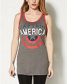 Half Shield Captain America Tank Top