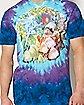 Tie Dye Mushroom Garden T shirt