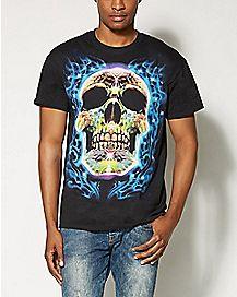 Blazing Skull T shirt