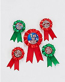 Ugly Sweater Contest Award Ribbons