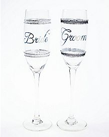 Bride and Groom Toasting Glasses 2 Pack 6 oz