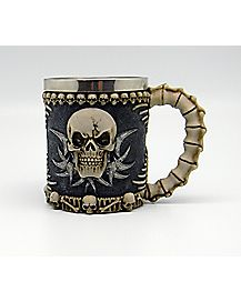 Skull Spine Tankard Beer Mug