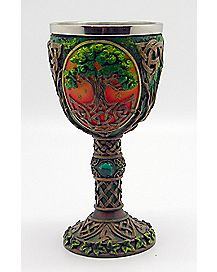 Brown Tree of Life Goblet 5.3 oz