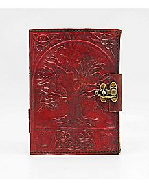 Tree Of Life Locking Leather Journal