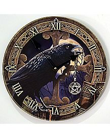 Lisa Parker Raven Wall Clock