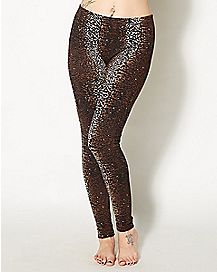 Leopard Metallic Leggings