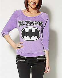 Burnout Raglan Batman Sweater