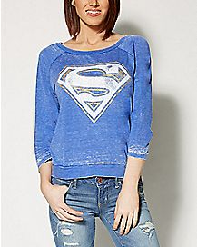 Burnout Superman Raglan Sweater