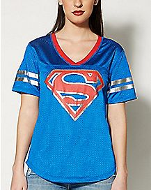 Foil Logo Superman Jersey T Shirt - DC Comics