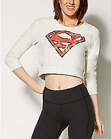 Superman Cropped Sweatshirt