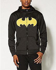 Logo Batman Zip Up Hoodie