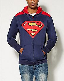 Zip Up Superman Hoodie