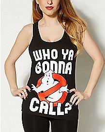 Who Ya Gonna Call Ghostbusters Racerback Tank Top