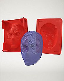 Deadpool Face Gelatin Mold Tray