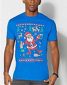 Adult Partying Santa T-Shirt